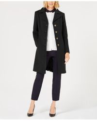 Anne Klein - Single-breasted Wool Coat - Lyst