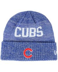 8acdfd8f83fb62 47 Brand Women's Chicago Cubs Fiona Pom Knit Hat in Blue - Lyst