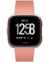 Fitbit | Versatm Peach Band Touchscreen Smart Watch 39mm | Lyst