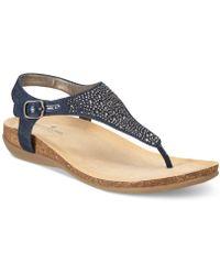Bandolino - Herby Embellished Thong Wedge Sandals - Lyst