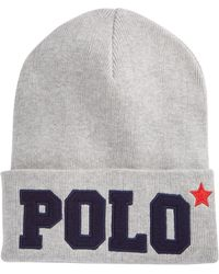 Polo Ralph Lauren - Varsity Knit Hat - Lyst