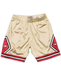 Mitchell & Ness - Chicago Bulls Gold Collection Swingman Shorts - Lyst