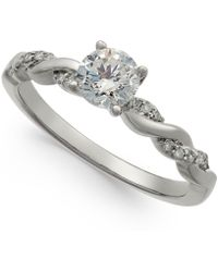 Macy's - Diamond Twist Engagement Ring (3/4 Ct. T.w.) In 14k White Gold - Lyst