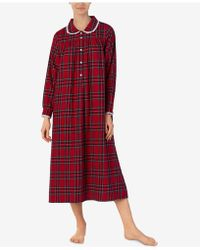 Lanz of Salzburg - Plus Size Printed Cotton Flannel Nightgown - Lyst
