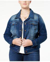 Jessica Simpson - Trendy Plus Size Pixie Jefford Wash Denim Jacket - Lyst