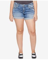Silver Jeans Co. - Plus Size Sam Boyfriend-fit Denim Shorts - Lyst