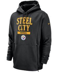 Nike - Pittsburgh Steelers Sideline Player Local Therma Hoodie - Lyst 1ad00e8bc