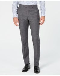 Original Penguin - Slim-fit Sharkskin Solid Suit Trousers - Lyst