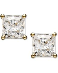 Arabella | 14k Gold Earrings, Swarovski Zirconia Princess Cut Stud Earrings (2-3/4 Ct. T.w.) | Lyst