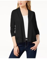 Charter Club - Perforated 3/4-sleeve Cardigan, Created For Macy's - Lyst