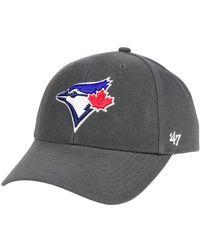 47 Brand - Toronto Blue Jays Charcoal Mvp Cap - Lyst
