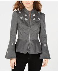 75c4ff76cf651 INC International Concepts - I.n.c. Embellished Peplum Jacket