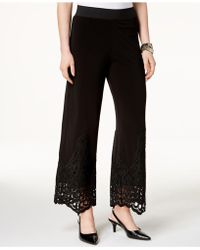 Alfani - Lace-trim Pull-on Pants, Created For Macy's - Lyst