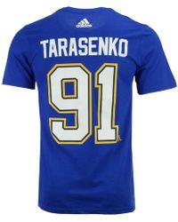 e0c605ebc1a0 adidas - Vladimir Tarasenko St. Louis Blues Silver Player T-shirt - Lyst