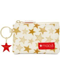 Macy's | Coated Cotton Canvas Coin Purse | Lyst