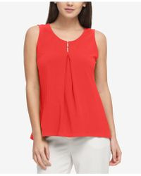 DKNY - Embellished Top, Created For Macy's - Lyst