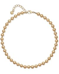Charter Club - Champagne Imitation Pearl Collar Necklace, Created For Macy's - Lyst