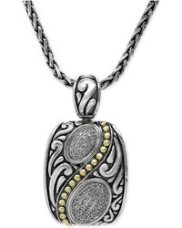 Effy Collection - Diamond Pendant Necklace In 18k Gold And Sterling Silver (1/5 Ct. T.w.) - Lyst