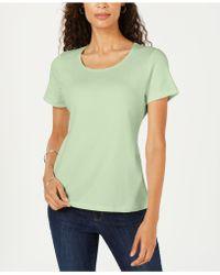 Karen Scott - Short Sleeve Scoop Neck Top, Created For Macy's - Lyst