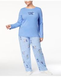 Hue - Snuggle Buddy Plus Size Pyjama Set With Socks - Lyst