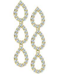 Giani Bernini - Cubic Zirconia Pavé Triple Drop Earrings In 18k Gold-plated Sterling Silver - Lyst