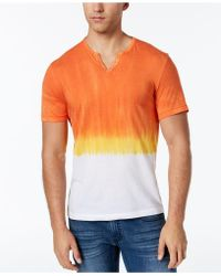 INC International Concepts - Split-neck Dip Dyed T-shirt, Created For Macy's - Lyst
