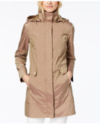 Cole Haan - Petite Signature Packable Raincoat - Lyst