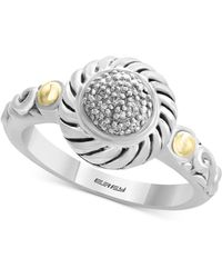 Effy Collection - Balissima By Effy® Diamond Accent Two-tone Ring In Sterling Silver & 18k Gold - Lyst