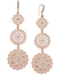 INC International Concepts - I.n.c. Rose Gold-tone Filigree Triple Drop Earrings, Created For Macy's - Lyst