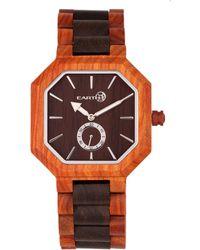 Earth Wood - Acadia Wood Bracelet Watch Brown/red 43mm - Lyst