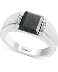 Effy Collection - Hematite (9 X 7mm) & Diamond Accent Ring In Sterling Silver - Lyst