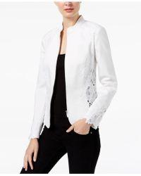 INC International Concepts - Lace-inset Jacket - Lyst