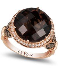 Le Vian | Chocolate Quartz® (8 Ct. T.w.) And Diamond (3/4 Ct. T.w.) Ring In 14k Rose Gold | Lyst