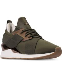 new arrivals be218 2401f PUMA - Muse Metallic Casual Sneakers From Finish Line - Lyst