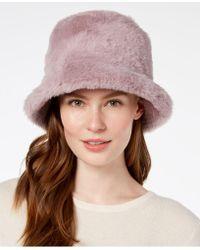 Steve Madden - Solid Faux-fur Bucket Hat - Lyst