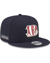 best authentic f98a9 ccdb3 KTZ - Cincinnati Bengals Crafted In The Usa 9fifty Snapback Cap - Lyst
