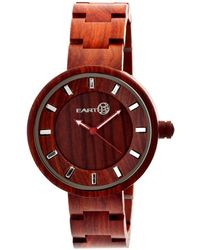 Earth Wood - Root Wood Bracelet Watch Red 41mm - Lyst