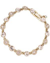 Givenchy - Gold-tone Pavé Flex Bracelet - Lyst