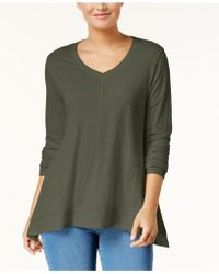 Style & Co. - V-neck Swing Top - Lyst