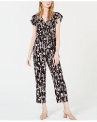 35e9c6a573e2 Maison Jules - Printed Flutter-sleeve Jumpsuit