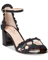 Kate Spade - Wayne Embroidered Dress Sandals - Lyst