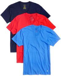 Polo Ralph Lauren - Men's 3-pk. Cotton V-neck T-shirts - Lyst