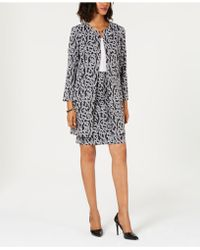 Alfani - Petite Jacquard A-line Jacket, Created For Macy's - Lyst