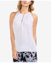 Vince Camuto - Sleeveless Keyhole Top - Lyst