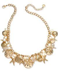 Charter Club - Gold-tone Imitation Pearl Sea Motif Statement Necklace - Lyst