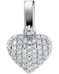 Michael Kors - Custom Kors Sterling Silver Pave Heart Charm - Lyst
