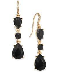 Charter Club | Gold-tone Jet Stone Drop Earrings | Lyst