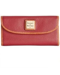 Dooney & Bourke - Pebble Leather Continental Clutch - Lyst