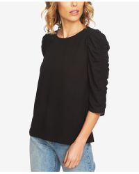1.STATE - Ruched-sleeve Top - Lyst