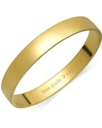 Kate Spade - 12k Gold-plated Idiom Bangle Bracelet - Lyst